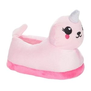 NWT Pink Narwhal Slippers, Size Toddler 8